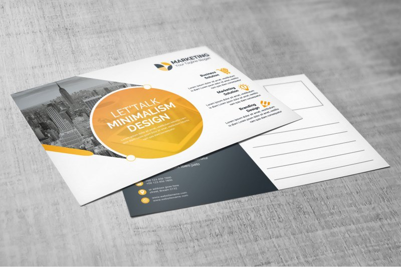 Best PSD Postcard Design Templates