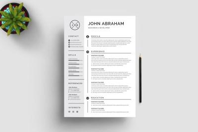 Grayish Resume Design Template
