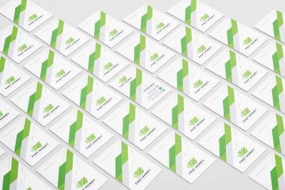 Vertical Visit Card Template