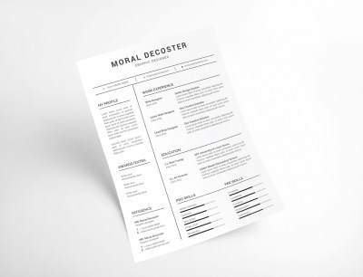 Clean Resume CV Template