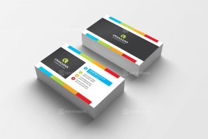PSD Vibrant Business Card Design