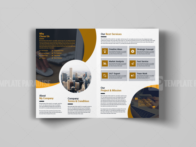 A4 Sleek Bi-Fold Brochure