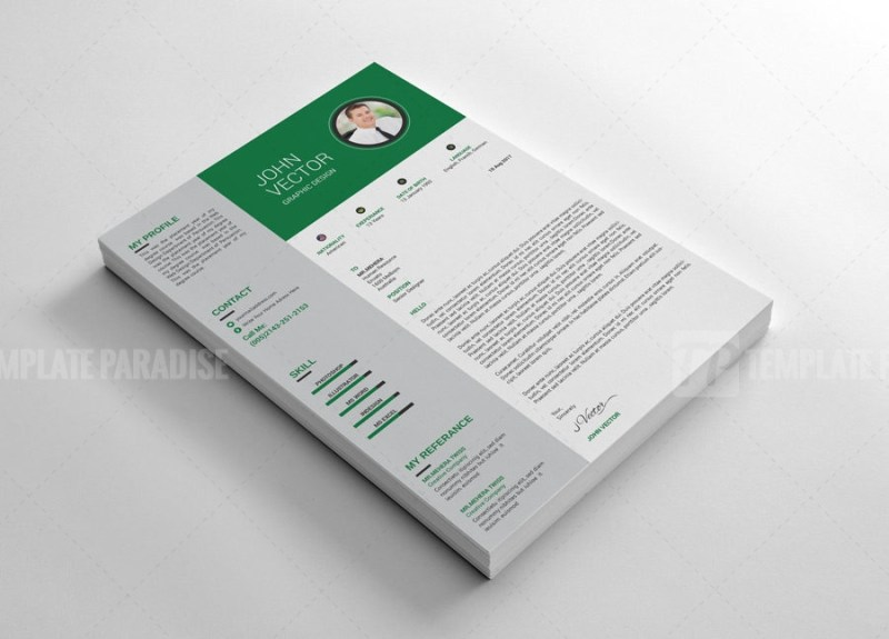 Layered Resume CV Design