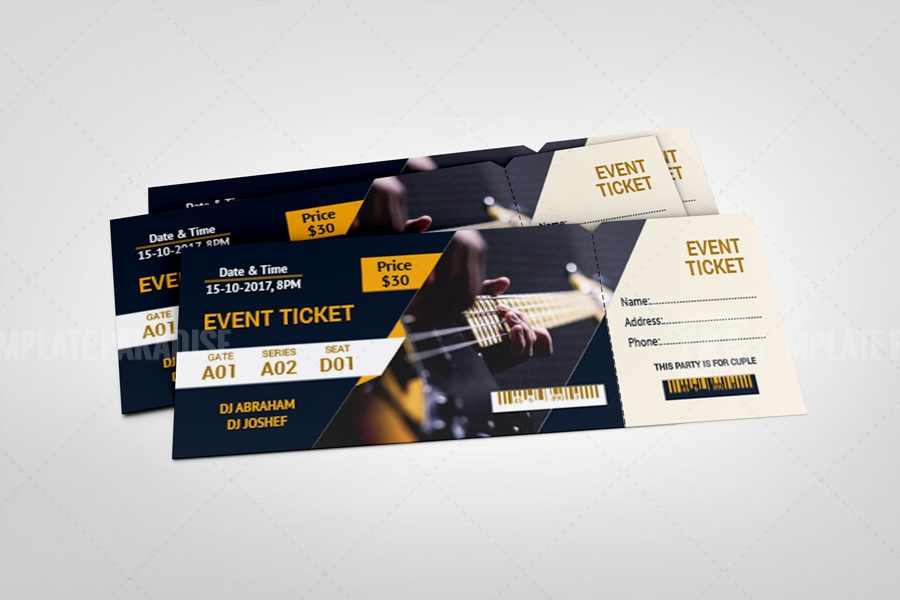 Festival Event Ticket Template