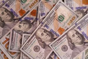 Hundred dollars banknotes