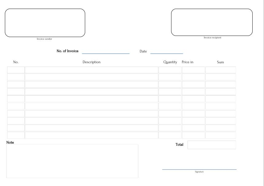 Invoice Template Fillable Pdf Operlyinginfo - Fillable pdf invoice