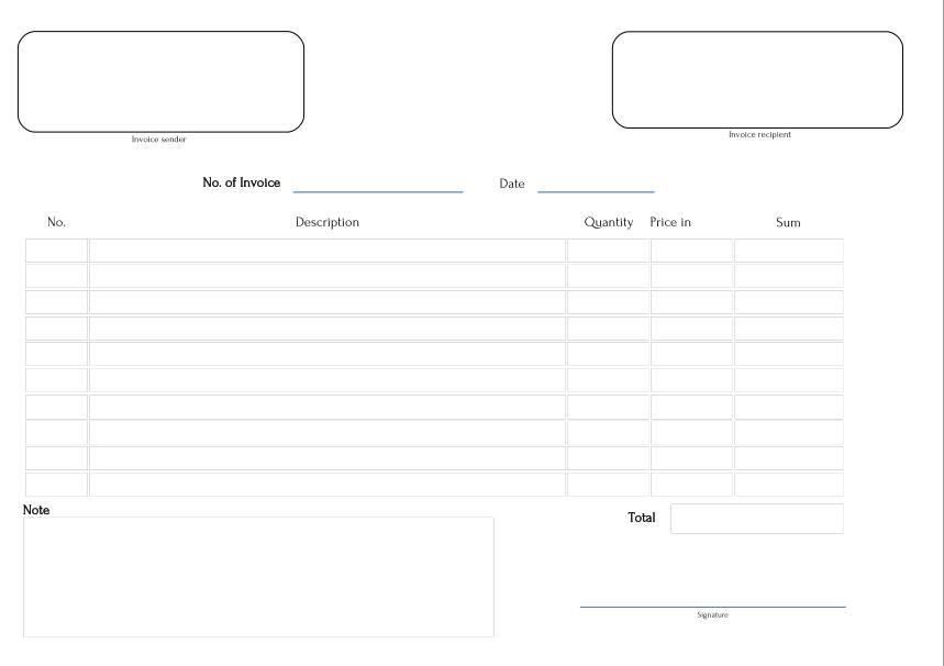 fillable invoice template – neverage, Invoice templates