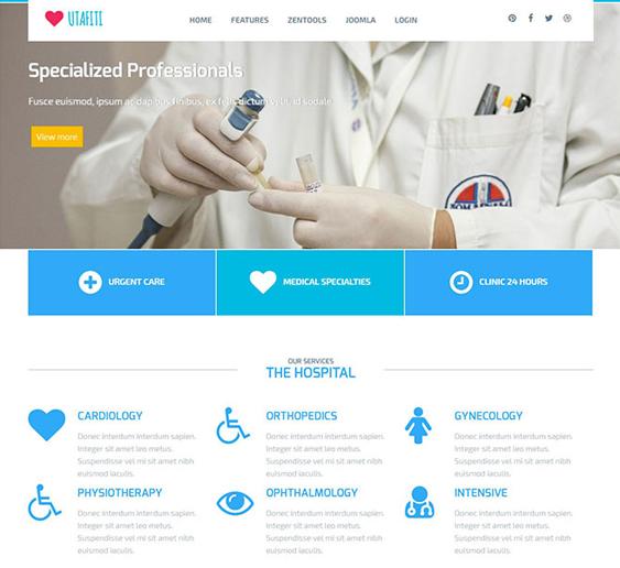 utafiti medical joomla templates