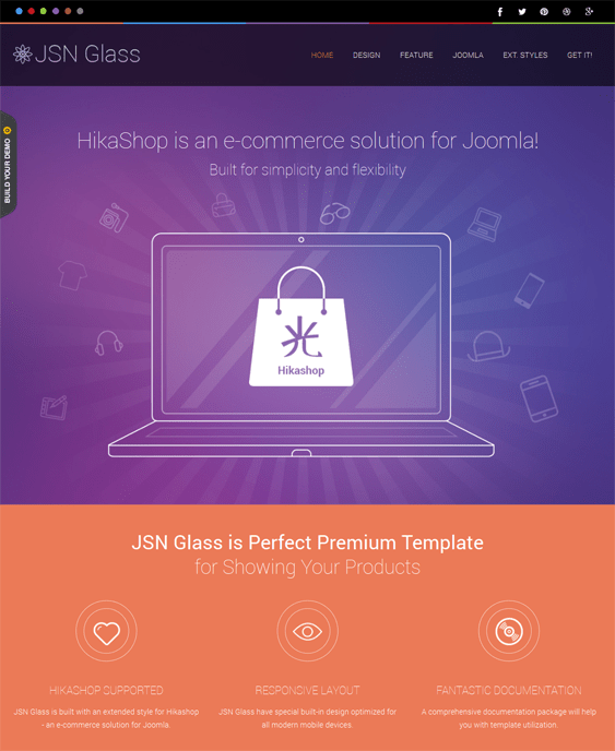 jsn glass hikashop template