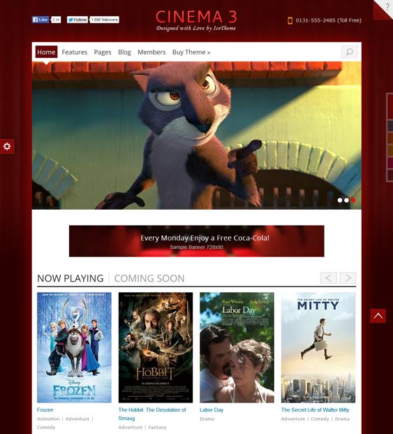 it cinema 3 movie joomla template