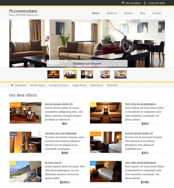 accommodate hotel wordpress theme