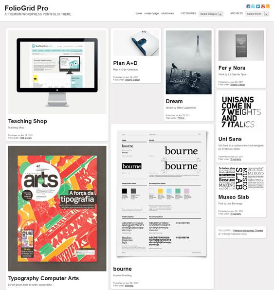 foliogrid pro masonry wordpress portfolio theme