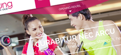 gym fitness joomla themes feature