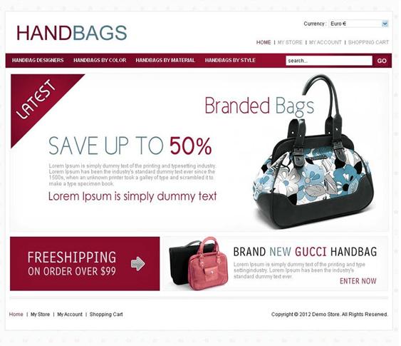 handbags virtuemart template