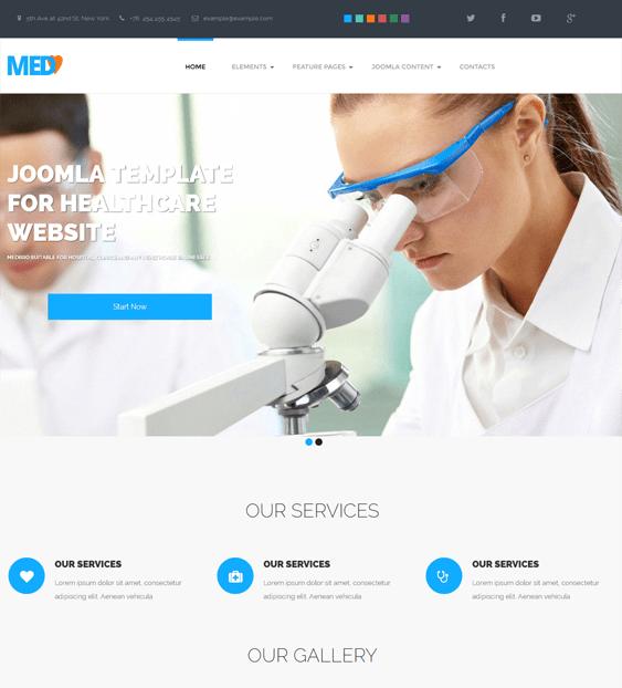 medbro health medical joomla theme