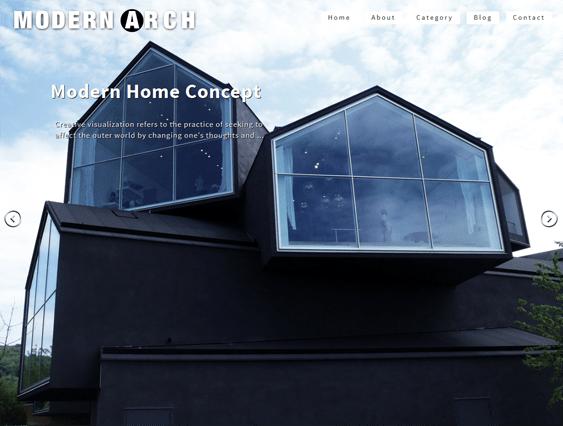 modern arch architect wordpress theme