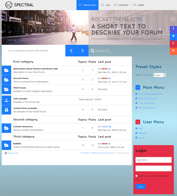 spectral responsive phpbb3 themes