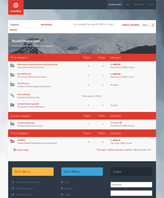 vermilion responsive phpbb3 themes
