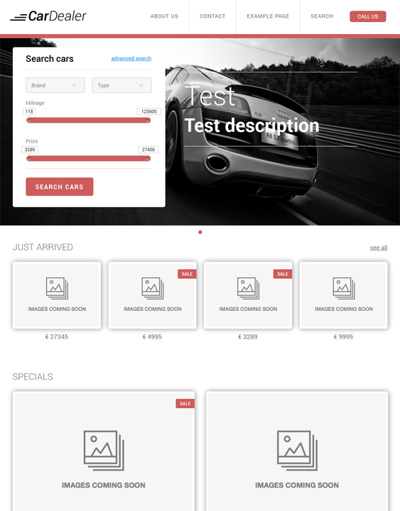 cartheme car dealership wordpress theme