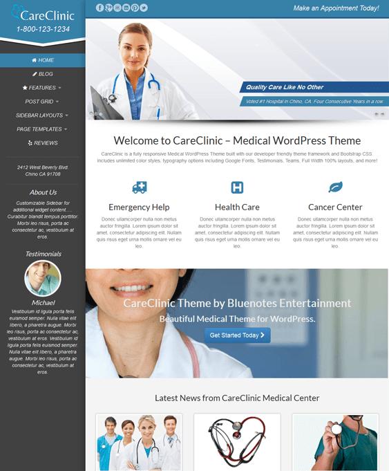 careclinic doctor clinic wordpress theme