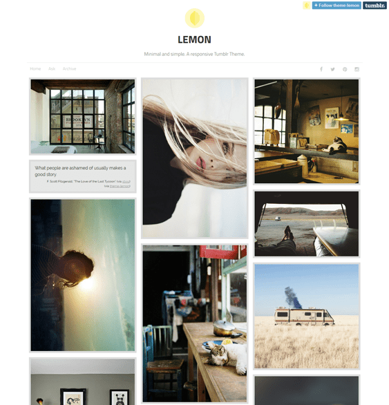lemon masonry tumblr theme