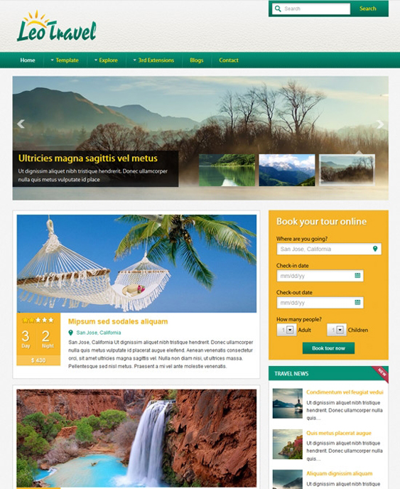 leo travel joomla templates