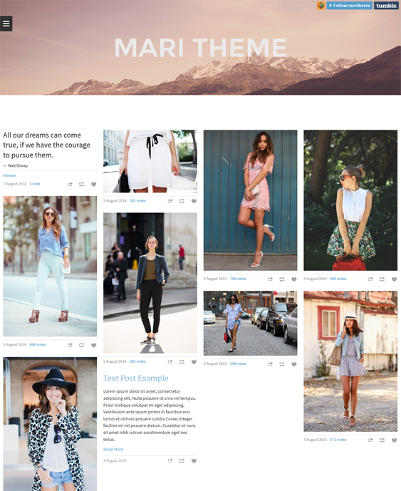 mari masonry tumblr theme