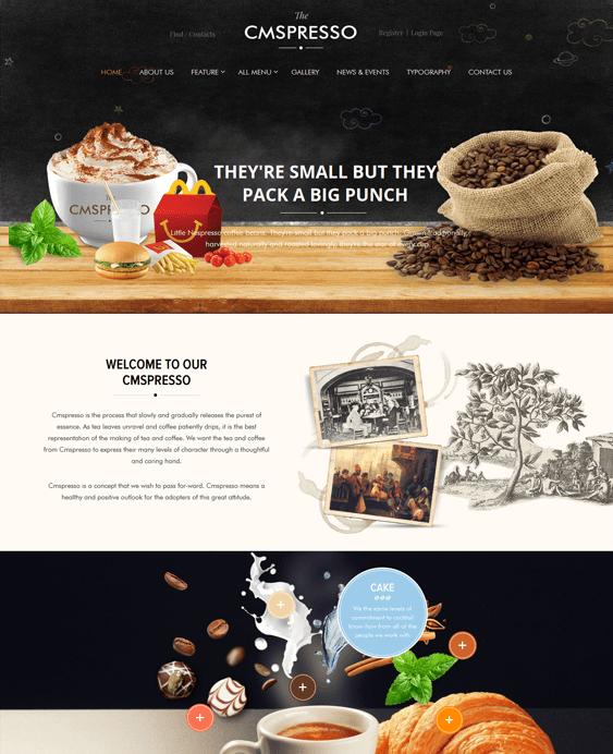 coffee restaurant wordpress themes