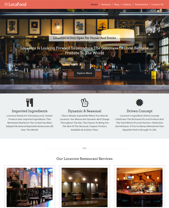 loca food restaurant wordpress themes