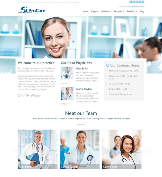 procare medical wordpress theme