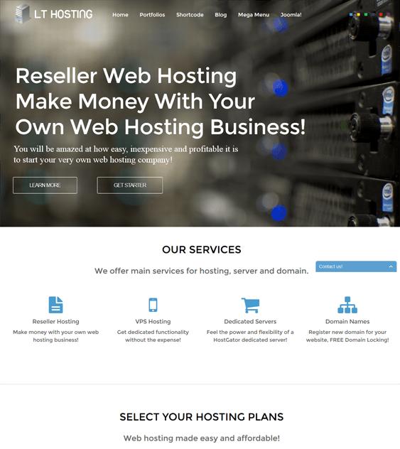 lt hosting web hosting joomla templates