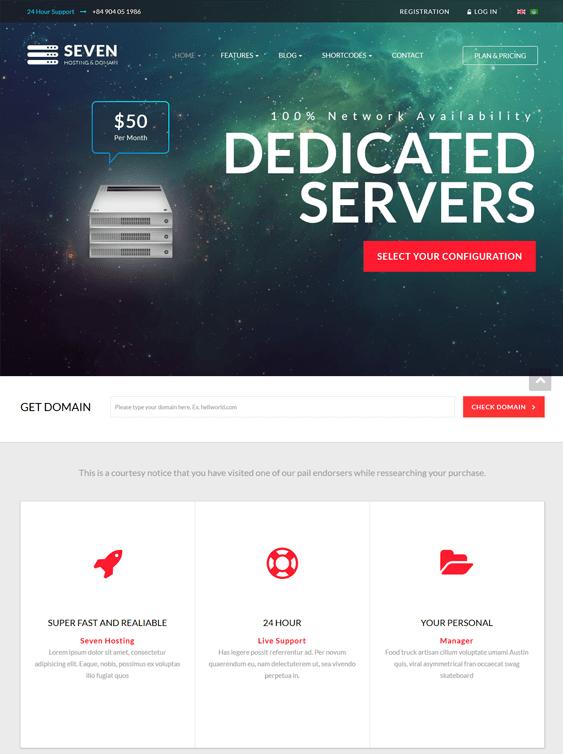 zt seven web hosting joomla templates