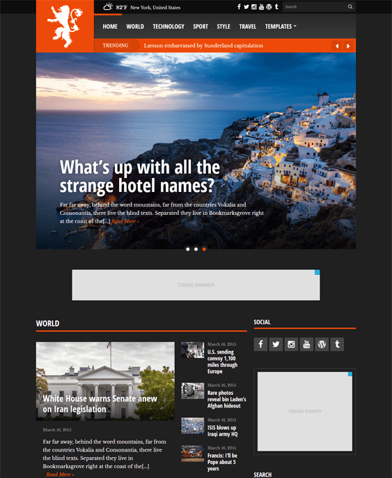 tabloid dark wordpress theme
