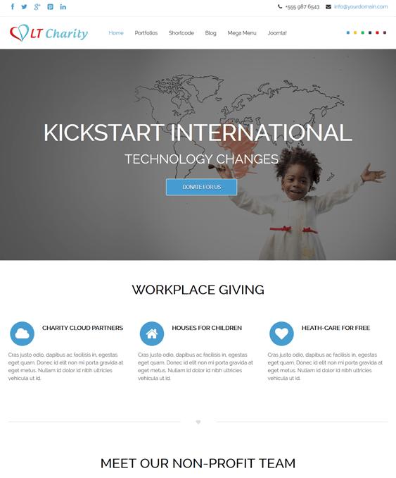 lt charity nonprofit joomla templates
