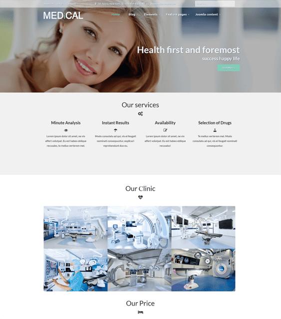 medical joomla templates