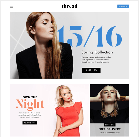 thread canopy minimal shopify theme