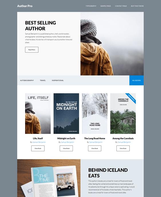 author pro ebook author wordpress theme
