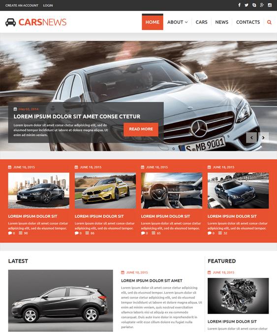 auto highlights car vehicle automotive joomla templates