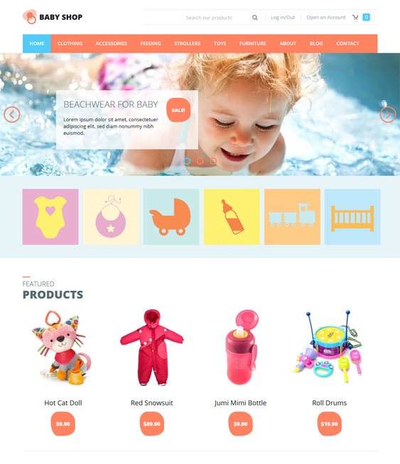 baby shop kids joomla templates