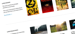 best author ebook wordpress themes feature