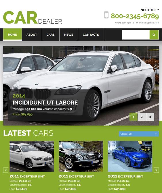 car dealer car vehicle automotive joomla templates