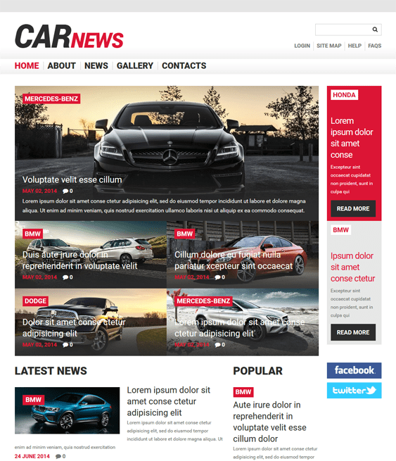 car responsive car vehicle automotive joomla templates