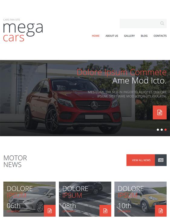 cars fan minimal joomla templates
