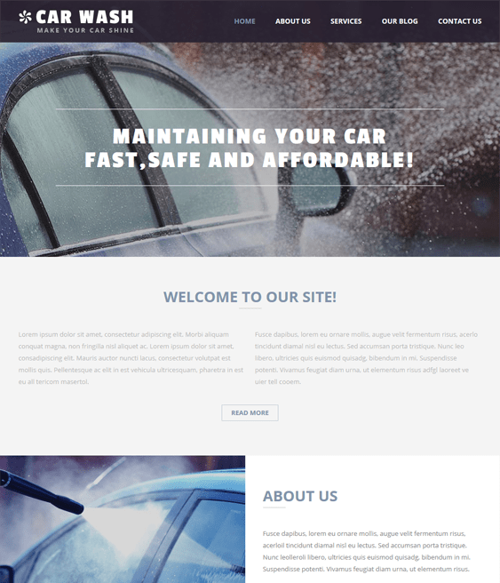 car wash car vehicle automotive joomla templates