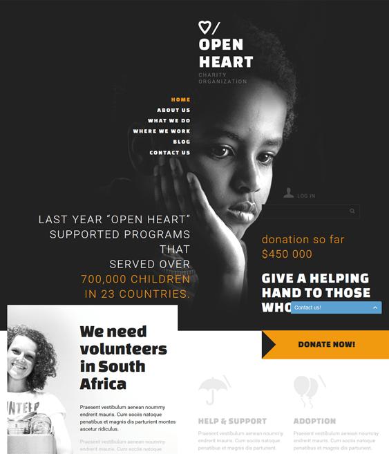 charitable charity nonprofit joomla templates