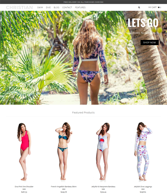 coco swimwear lingerie shopify themes