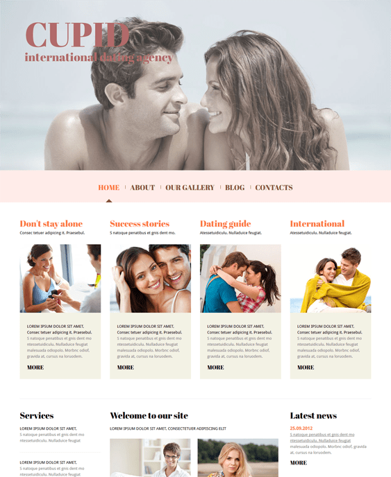 dating website joomla templates