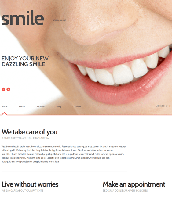 dentistry medical wordpress theme