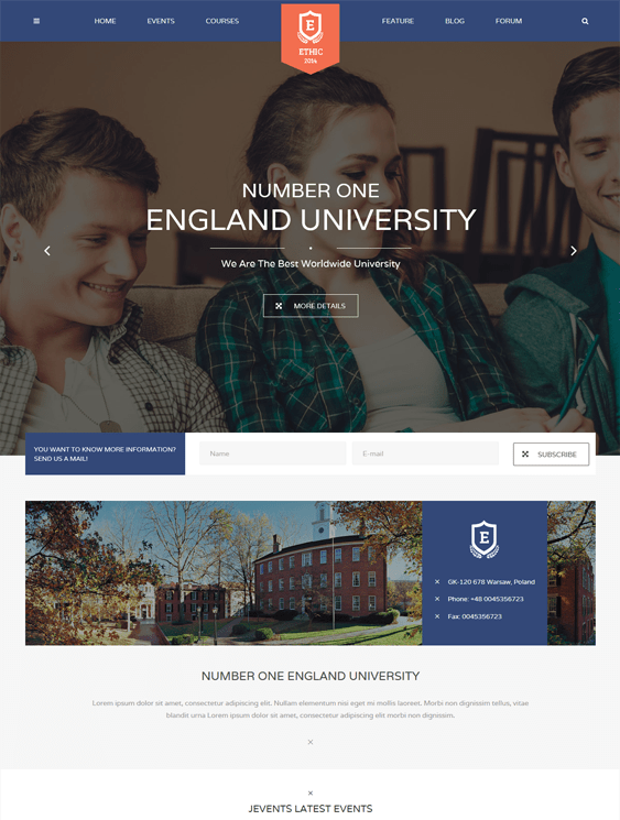 ethic education joomla theme
