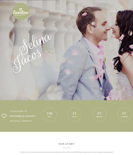 everline wedding joomla templates